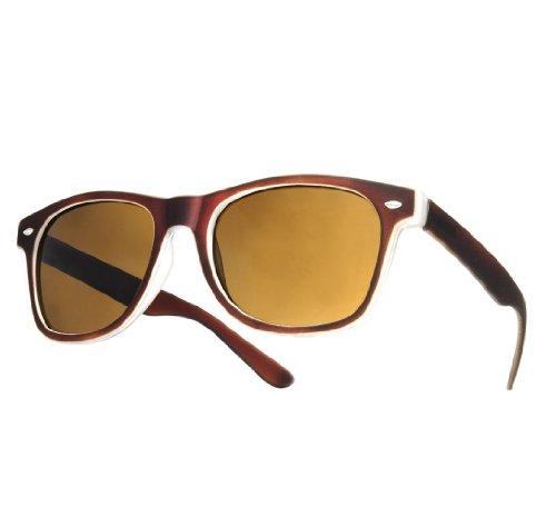 NEW UNISEX (MENS WOMENS) Retro Vintage Sonnenbrille Brille SUNGLASSES Shades UV400 Protection Morefaz(TM) (Rubbi braun)