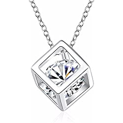 Addic Diamond In A Box Pendent Gold Pendant Valentine Gift for Girls and Women.