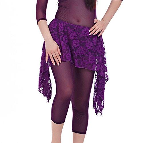 Feicuan Damen Waist Gürtel Spitze Short Wrap Hip Rock Kostüme (Kostüme Tanz Shorts)