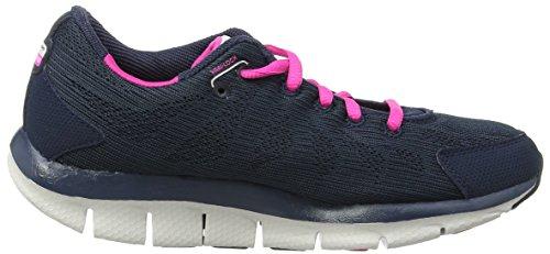 Skechers Liv Go Spacey, Aptitude femme Bleu (Navy/Pink)