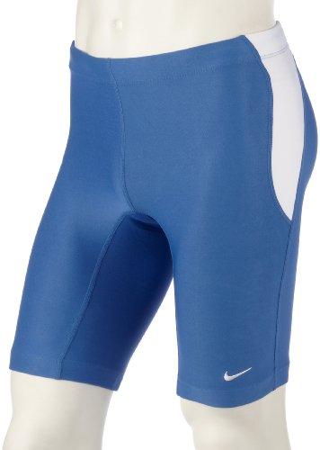 Nike FIT DRY Herren Running Tight Jogging Tights Lauftight Hose Shorts Männer Kurz Blau Größe L D 52/54 GB 34/36 (Fit Nike Shorts)