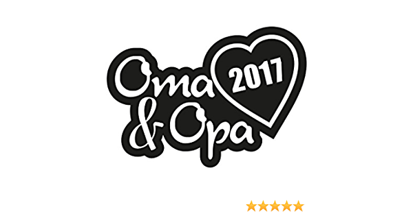 1 X 2 Plott Aufkleber Oma Opa 2017 Sticker Familie Autoaufkleber Tuning Decal Auto