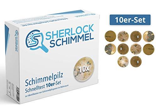 Schimmeltest 10er-Set/Schimmelpilz Schnelltest/Schimmeltester für Wohnung - Bestimmung der Schimmelpilzbelastung in Wohnräumen
