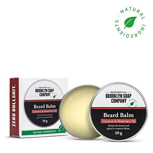 Natürliche Bartpflege: Beard Wax Bartwachs (20 gr) ✔ Naturkosmetik der BROOKLYN SOAP COMPANY für Bartstyling von 3-Tage-Bart bis Vollbart - starker Halt, leichter Glanz - Beard Balm als Geschenkidee