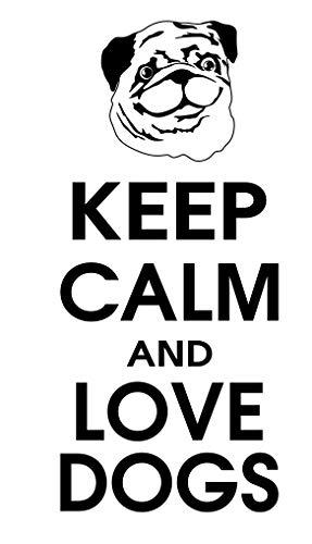 spb87 Keep Calm and Love Perros–francés Bulldog Animales casa corazón Vida Familiar Amor casa Juntos Cita de Pared Adhesivos de Vinilo Pegatinas Art Decor DIY