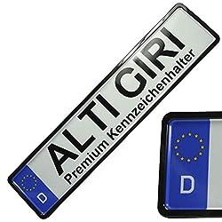 Premium Kennzeichenhalter Kennzeichenrahmen Kennzeichenverstärker hochglanz (schwarz)