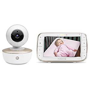 Motorola MBP855 Connect 5-Inch Colour Screen Video Baby Monitor VTech DECT digital technology for a secure connection and clear sound without interference Parent unit uses rechargeable batteries for up to 14 hours of active monitoring Long 300m range 8