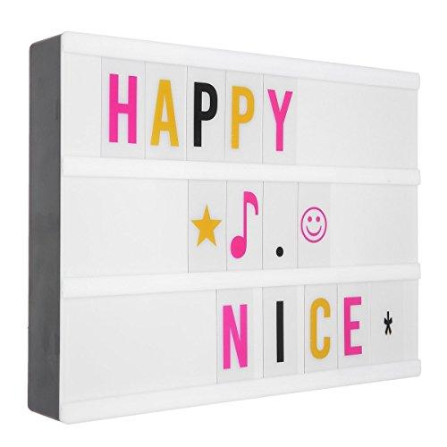 Caja de Luz Letras A4 LED, M. Way Light Box A4 Bombilla Buzón con letras Pantalla Iluminada de Blanco con LED, para Letras Flexibles 96 Blancos y Negros y 108 Colores , Ilustraciones, Decoración, Etc.