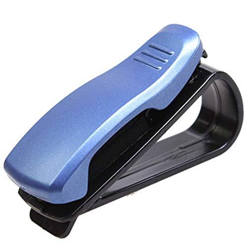 Car Sunglasses Holders Ticket Card Clip Glasses Mount Car Sun Visor Blue