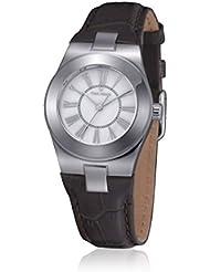 Time Force TF4003L02 - Reloj con correa de cuero para mujer, color marrón / gris