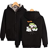TSHIMEN Mens Sweater Naruto 2019 New Japanese Popular Blood Anime Plus Velvet Thick Zipper Hooded Sweater Long-Sleeved Jacket Unisex Without Hangers (1pcs) Frog
