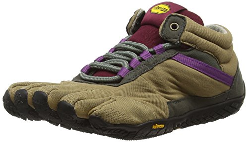 Vibram FiveFingers 15W5304 TREK Ascent Insulated, Outdoor Fitnessschuhe Damen, Mehrfarbig (Khaki/grape), 41 EU