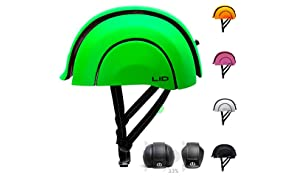 Foldable Cycle Helmet by LID for Road Commuters, Rear Light and Self-adjusting - CPSC and EN1078
