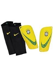 Nike Mercurial Lite Brazil Shin Pads Yellow Gelbgrün Size:l