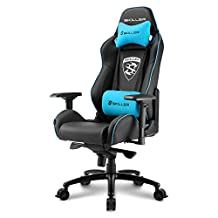 Sharkoon Skiller SGS3 Gaming Chair/ Seat, Durable upto 120 Kgs - Black/ Blue