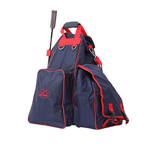 Sport Tent-Reitstiefeltasche Ausrüstung Reiten Stiefeltasche mit Helmfach Helmtasche Kombitasche Reitstiefel Reittasche Blau Geschenke