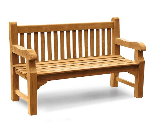 Gladstone Teak Park 3 Seater Garden Bench 1.5m - 5ft Garden Bench - Jati  Brand, Quality & Value