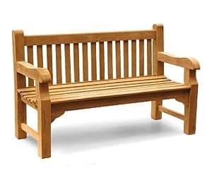 Gladstone Teak Park 3 Seater Garden Bench 1.5m - 5ft Garden Bench - Jati Brand, Quality & Value