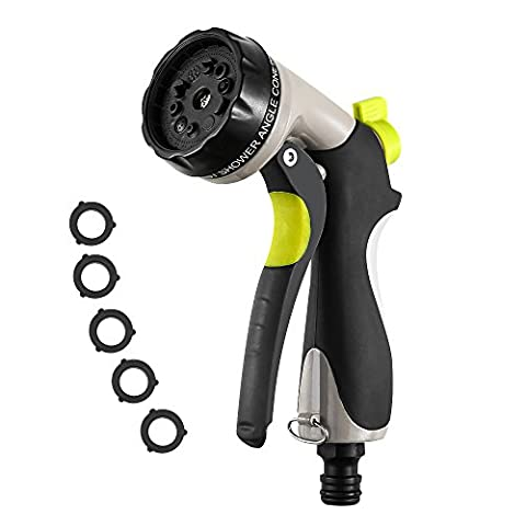 Easehold Garden Hose Nozzle Multi Spray Gun 10 Adjustable Pattern Water Trigger Nozzle