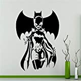 guijiumai DIY Tapete Batgirl Wandaufkleber Superhero Sticker s Art Home Decoration Jeder Raum...