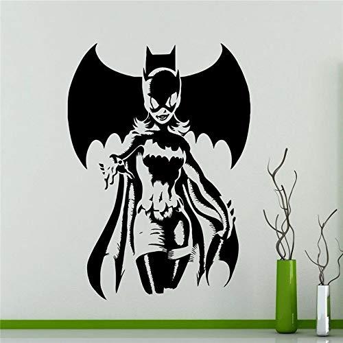 guijiumai DIY Tapete Batgirl Wandaufkleber Superheld Sticker s Art Home Decoration Jeder Raum Wasserdicht Aufkleber Rosa 78 x 110 cm