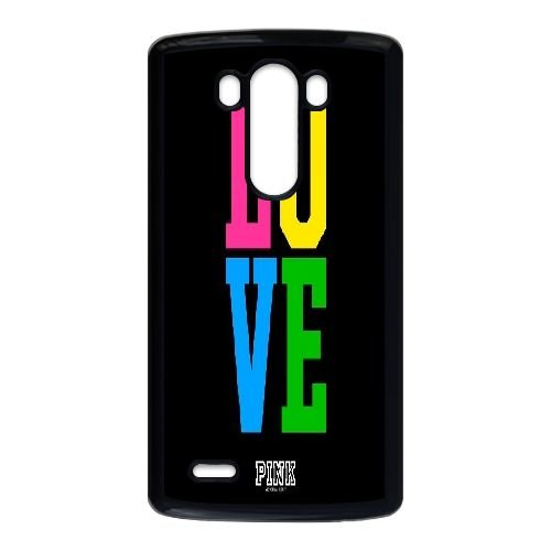 TOPDIY Personalized Durable Phone Case for LG G3 with Love Pink