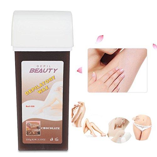 2 Stk Professionelle Warmwachspatrone Enthaarungswachs Waxing Cream Gesichtsunterarm, 100ml(Schokolade)