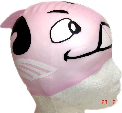 Forma di pesciolino, colore: rosa-cuffia da nuoto per bambine, colore: rosa
