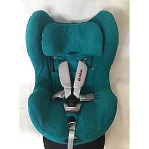 Sommerbezug Schonbezug für Cybex Sirona und Sirona plus Frottee 100% Baumwolle petrol + Bezug für den Fangkörper