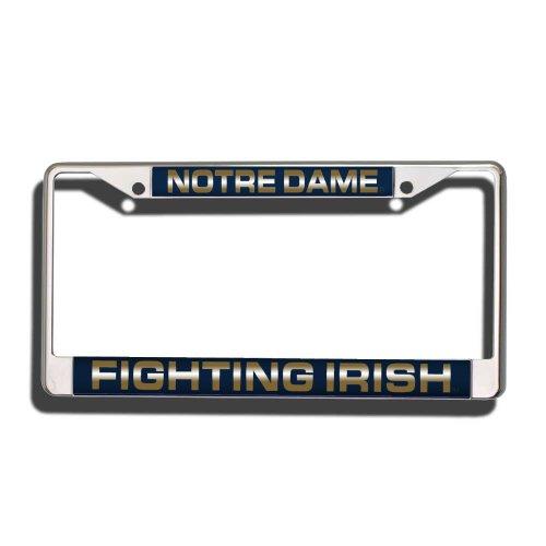 Rico NCAA Laser-Chromrahmen, NCAA Notre Dame Fighting Irish Laser Cut Chrome Plate Frame, Notre Dame Fighting Irish