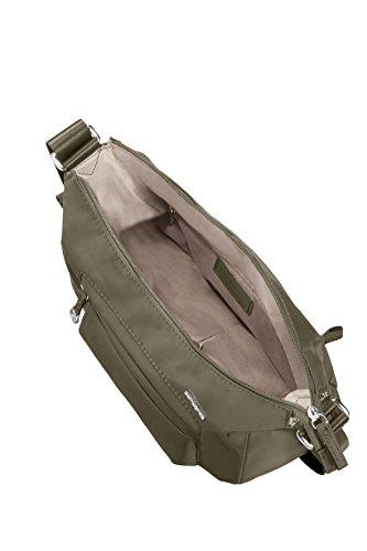 Samsonite Move 2 Shoulder Bag S + 1 Pock Borsa Messenger, 27 cm, Silver Green
