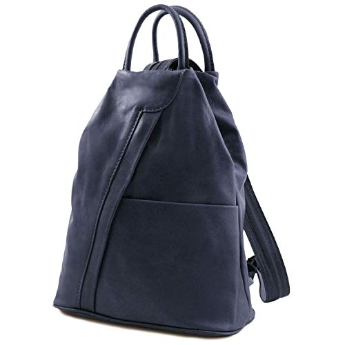 Tuscany Leather - Shanghai - Zaino in pelle morbida - TL140963 (Blu Scuro)