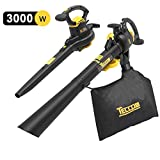 TECCPO Garden Vacuum and Blower, 3000W Leaf Blower Vacuum & Mulcher 3-in-1, Two