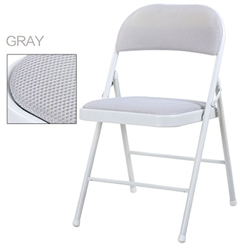 ERRU-Chaises Chaise pliante à la mode / Chaise de salle à manger bureautique occasionnelle pour ménage(44 * 46 * 76cm, couleur facultative) ( Couleur : Gris , taille : 2 Pieces )