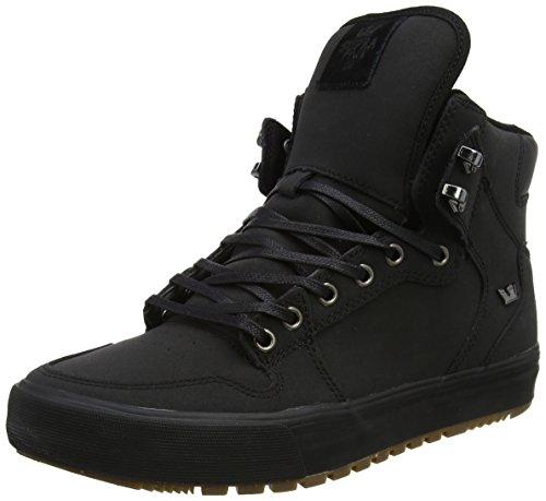 Supra Vaider CW, Baskets Basses Homme Noir (Black/Black-Dark Gum)