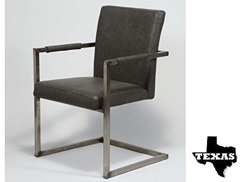 Armlehnstühle Esszimmersessel Polstersessel 2 Stk. Edelstahl Kunstleder