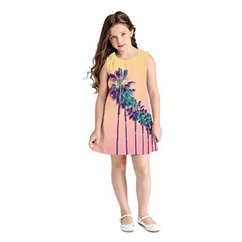 Clacce Kleider Kleid Skaterkleid Teen Kleinkind Kind Mädchen ärmellose 3D Cartoon Print Cartoon Kleider Freizeitkleidung Sommerkleid Jumpsuit Outfits