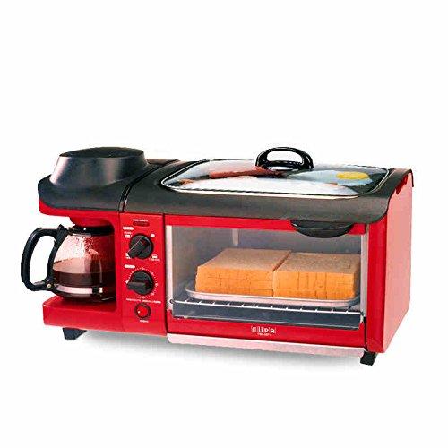 Maker Frühstück 3 In 1 (3-in-1 frühstück maschine 600w kaffeekanne + 700w teppanyaki + 900w ofen brotbacken maker brot toaster / spiegelei / coffee cooker multifuntion)