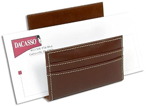 Dacasso Rustic Brown Leather Letter Holder by Dacasso