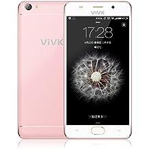 Smartphone 3G Libre, ViVK F1 Android 6.0 de 5.5 pulgadas Teléfono Móvil (Dual SIM, Quad Core, IPS 1280*720 HD, 8GB ROM, 8.0MP/2.0MP Dual Cámaras con Dual Flash LED, Gesto Inteligente, GPS, OTG, WIFI) Celular, color Rosa