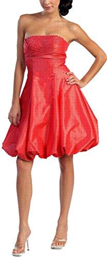 Danza dell'abito cocktail vestito da sera festa vestito corto sposa giovane a lungo dell'abito ABI-abito da ballo taaettà Rosso