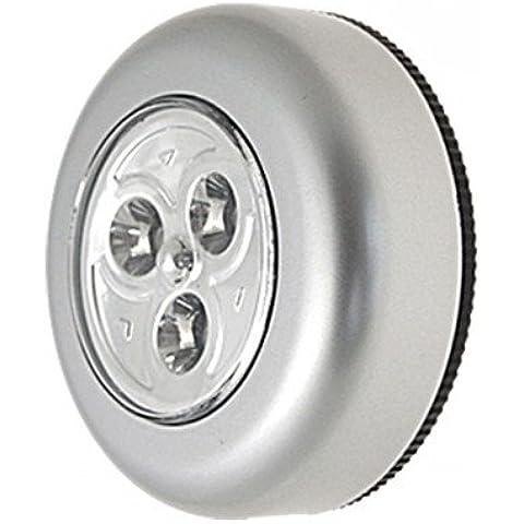 3 Luces LED Autoadhesivo Fácil Varilla Batería Presión Encendido Apagado Luces Varilla Y Clic Emergencia Caseta