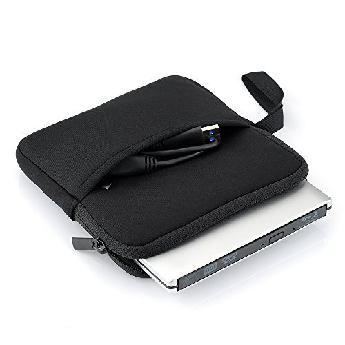 41vu93UQbQL. SS500  - TopElek Neoprene Sleeve Carrying Case Bag for External Hard Drive, CD DVD Blu-Ray Hard Drive, Apple SuperDrive, Apple Magic Trackpad, Samsung, LG, ASUS External DVD Drives and Other External Hard Drives