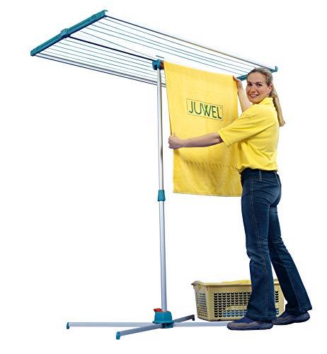 Juwel Wäschetrockner Swing 200 (extrem platzsparend, einstellbare Aufhänghöhe, Trockenfläche: 150 x 79/40 cm) 30014