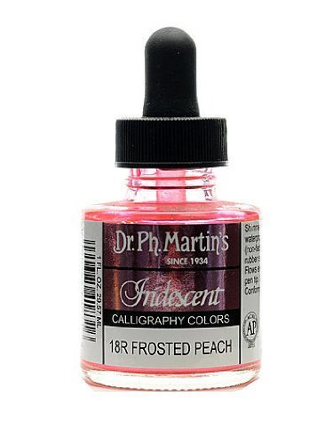 Dr Ph. Martin's Iridescent Calligraphy Color, 1.0 oz, Frosted Peach (18R) -