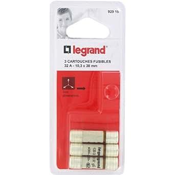 Legrand LEG92915 Cartouche fusible pour porte-fusible sans témoin 32 A 7360 W 10,3 x 38