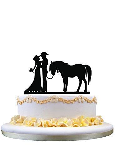 Western-Topper Hochzeitstorte mit Pferd (Pferd Topper Hochzeitstorte)