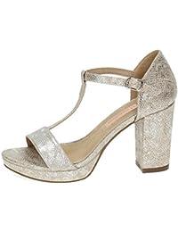 XTI 030577, Sandali donna nero 34 argento Size: 38