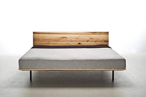 MAZZIVO MODO Hochwertiges Holz Bett schlicht & zeitlos filigran modern edel & elegant - italienisches Design 120 140 160 180 200 Überlänge Eiche Erle Buche Esche Kirschbaum (Erle, 120 x 200 cm) -