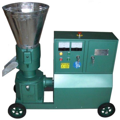 PP200 fábrica de pellets de 7,5 Kw 380 V troquel Ø 200 mm perforación Ø 6 mm